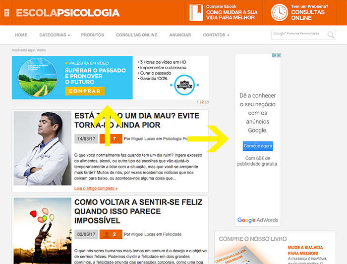 Display Advertising num blog de conteúdo