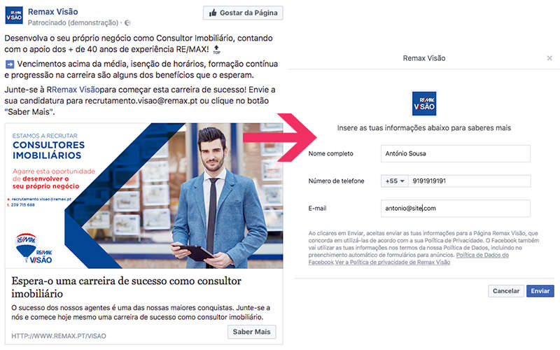Anúncios de leads no Facebook para Inbound Marketing