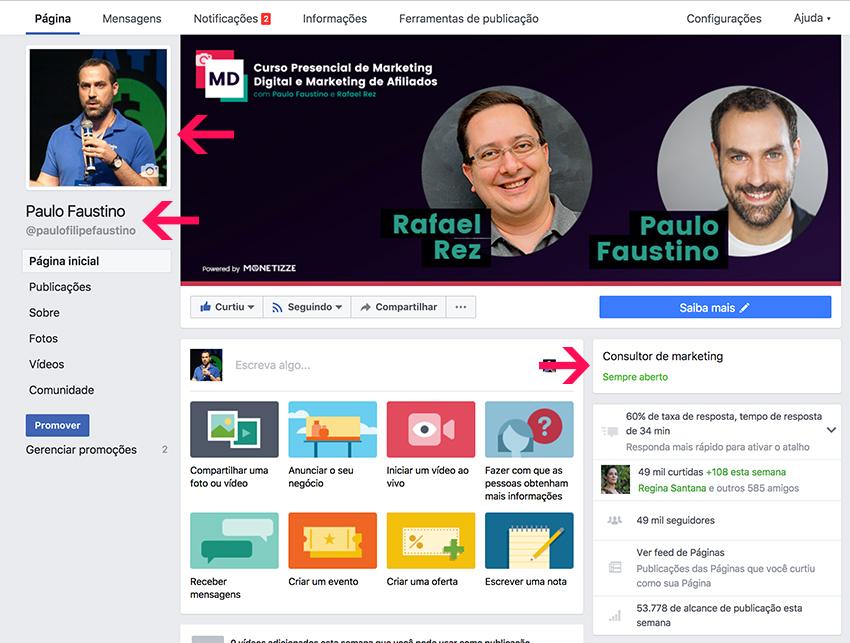 Set Facebook Page