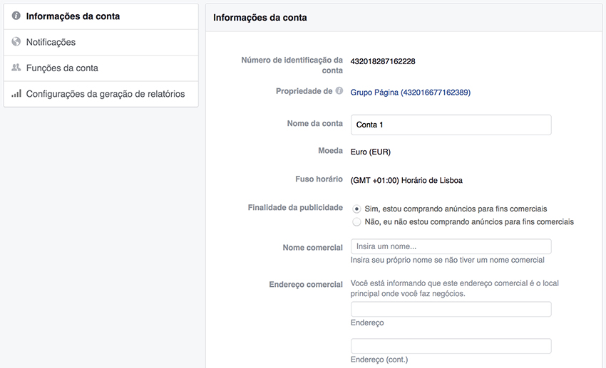 Facebook Ads Account Billing Data