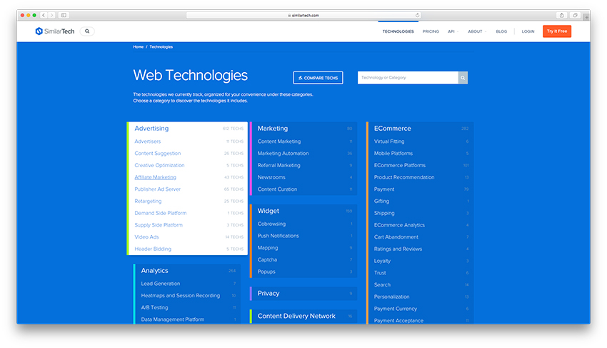 Similar Tech - Tecnologias Web