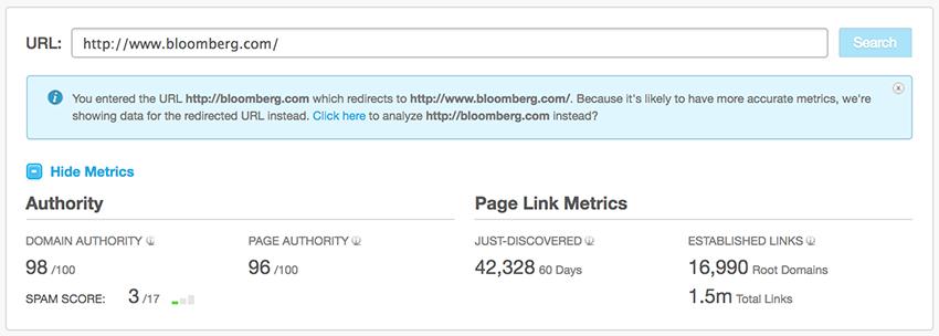 Autoridade de domínio - Bloomberg