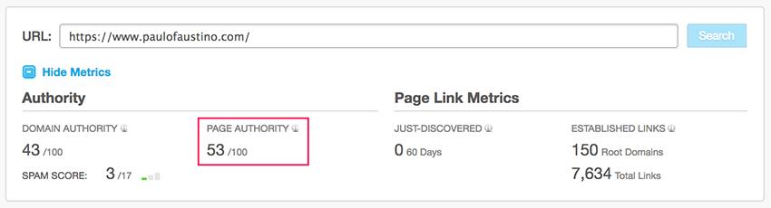 Link Building - Autoridade da página