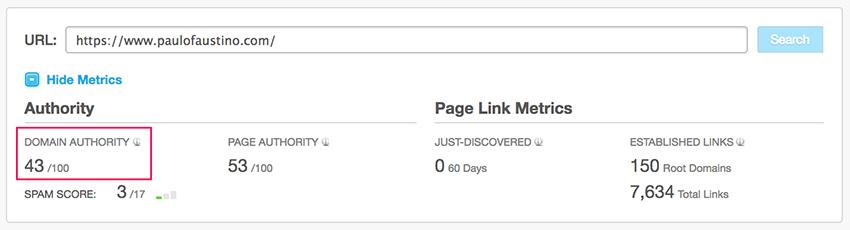 Link Building - Autoridade do domínio