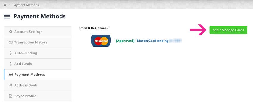 Native Ads - Adicionar Cartão de Crédito