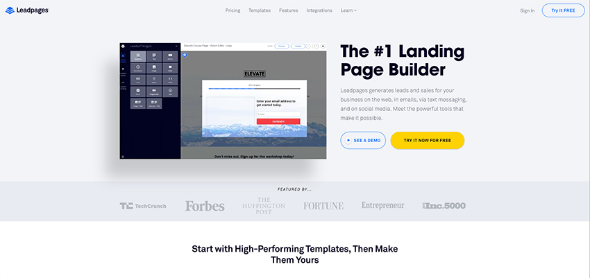 Leadpages Landing Pages