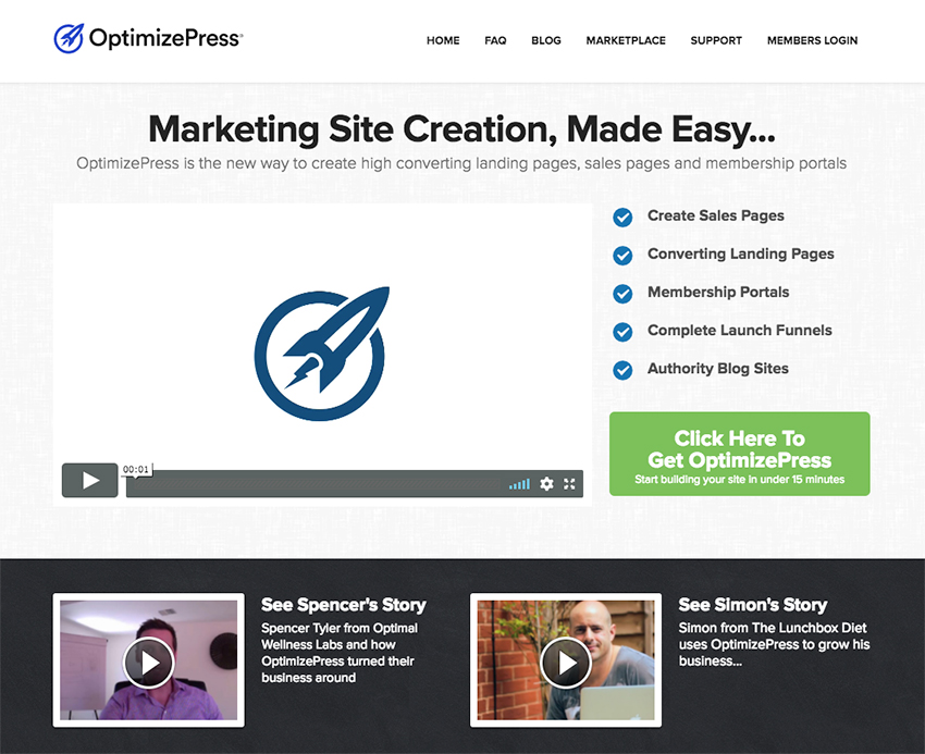 OptimizePress Landing Pages