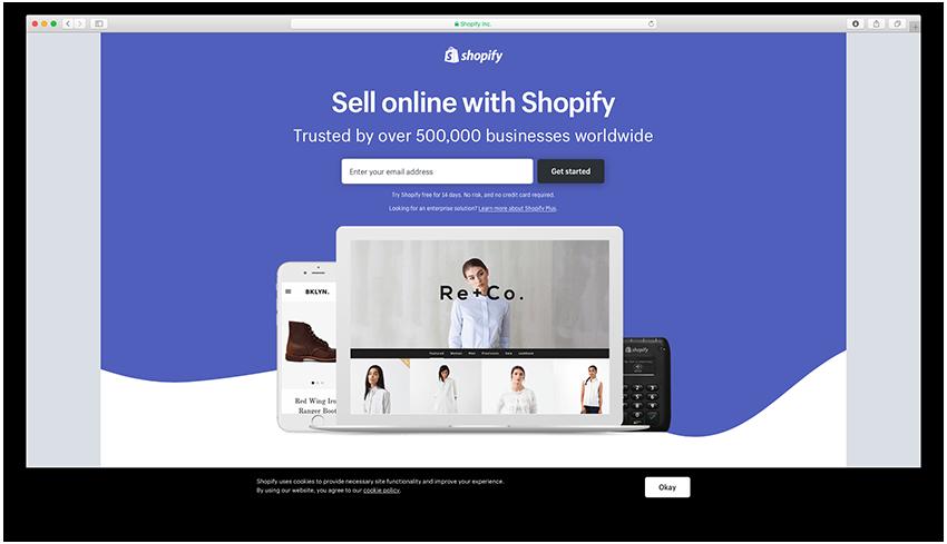 Shopify - Landing Page