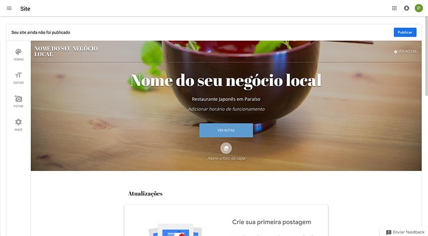 Google Meu Negócio - Site da empresa