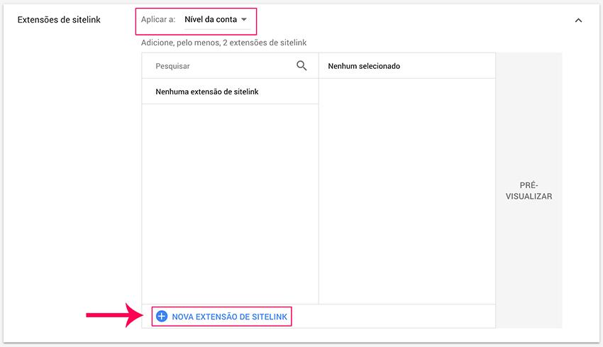 Adicionar extensões de anúncio em Google Ads