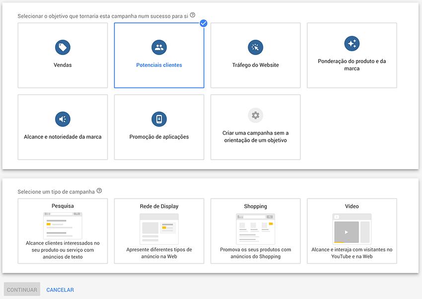 Criar campanha para potenciais clientes no Google Ads