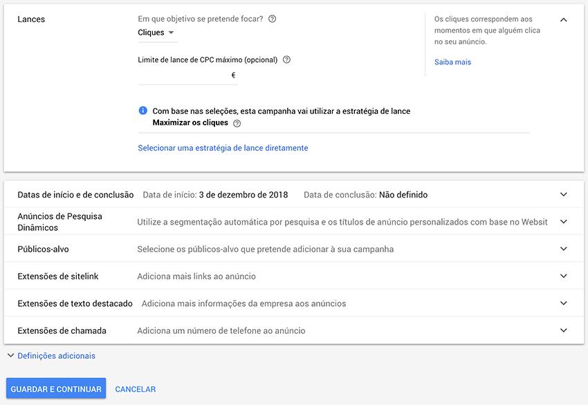 Estratégia de lances em Google Ads
