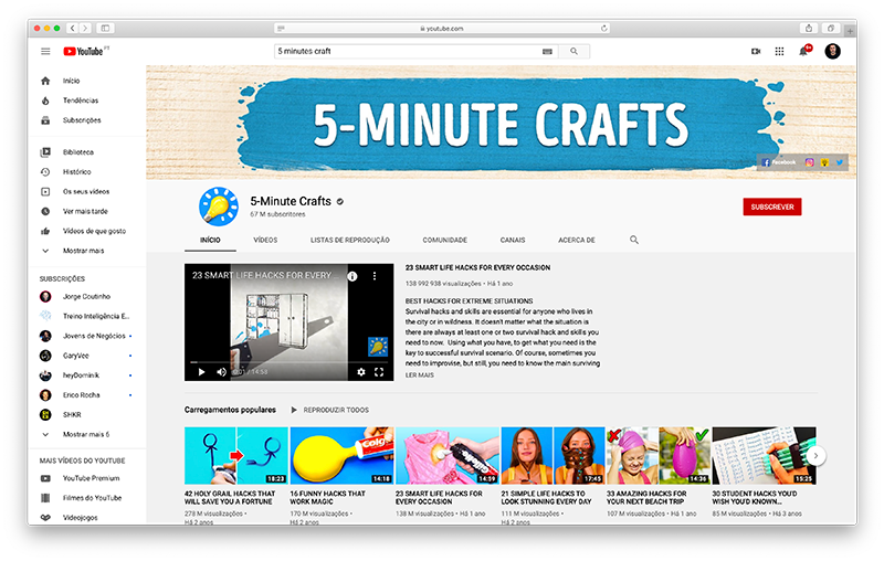 Canal 5 Minute Crafts