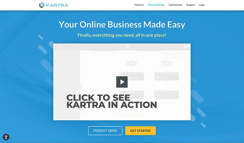 Kartra: Construtor de funis de vendas