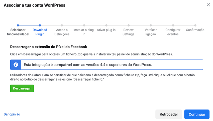 Pixel do Facebook para WordPress