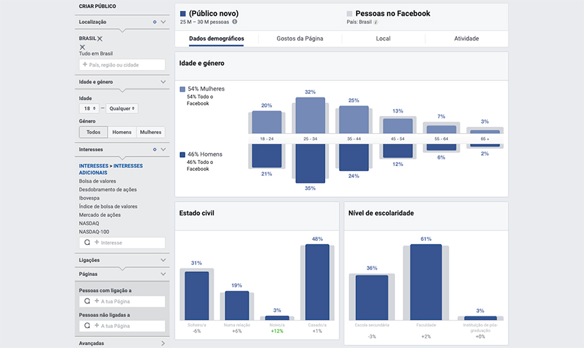 Facebook Audience Insigjts - Bolsa de valores