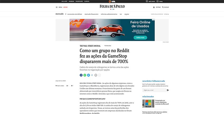 Grupo no Reddit começa a investir em ações da Gamestop